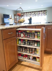 spice storage in kitchen